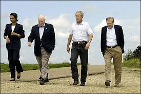 bush and friends